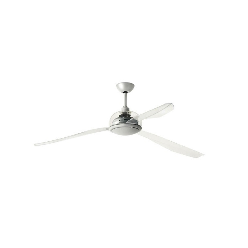Ceiling fan centottanta acrylic with light by italexport centottanta acrylic by italexport aloadofball Image collections