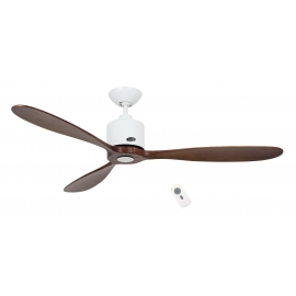 Aeroplan ECO White - Walnut with DC motor and remote control by Casafan