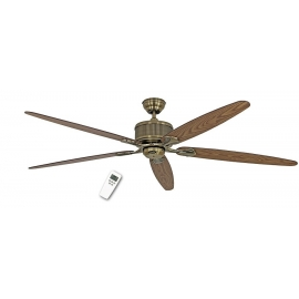 ECO Elements MA 180 Antique Brass with DC motor and remote control by Casafan.