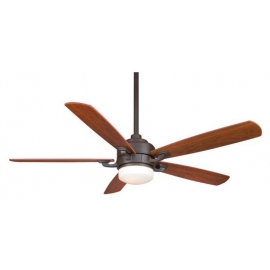 The Benito Oil Bronze ceiling fan with light by Fanimation