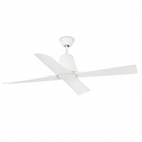 Outdoor white ceiling fan with DC motor Typhoon by FARO