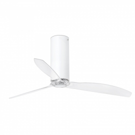 TUBE Chrome ceiling fan with DC motor by FARO