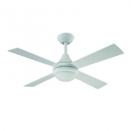Sigma White ceiling fan with light by Fantasia