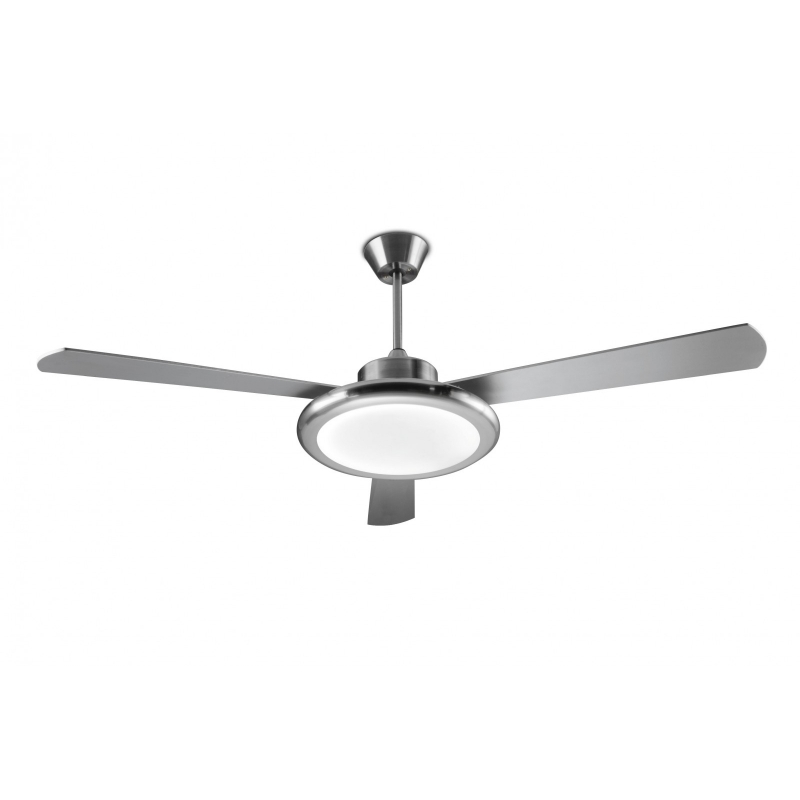 Bahia nickel matt ceiling fan with led light by la creu anemis bahia nickel matt ceiling fan with led light by la creu mozeypictures Gallery