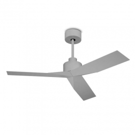 LACE minimal gray ceiling fan with DC motor by La Creu