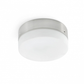 LED Light fixture nickel matt for ΜΟΛΟΚΑΙ FARO ceiling fans