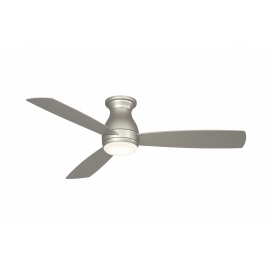 Outdoor ceiling fan Hugh Wet chrome with LED light by Fanimatiion