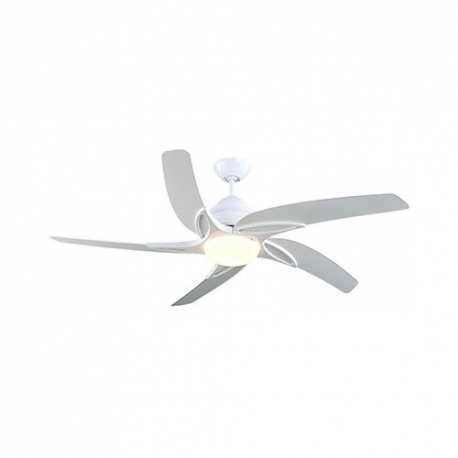 White Ceiling Fan With Light Remote Control By Fantasia New Viper με φωτιστικό και τηλεχειρισμό