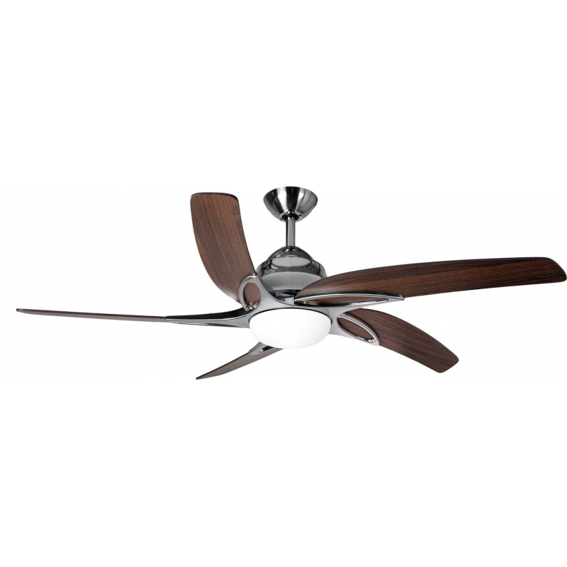 Viper Stainless Steel Ceiling Fan With Light Remote Control By Fantasia