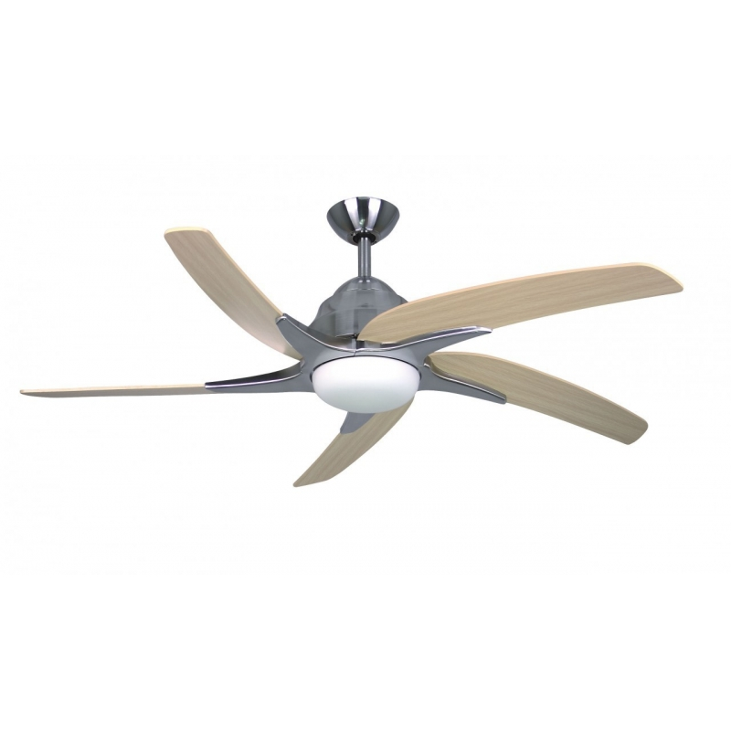Viper Plus Stainless Steel Ceiling Fan With Light Remote Control By Fantasia