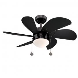 Turbo Swirl Gun Metal ceiling fan with light by Westinghouse
