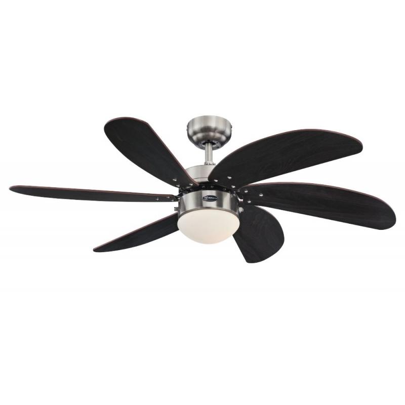 Ceiling Fan Turbo Swirl Nickel Mat With Light By Westinghouse