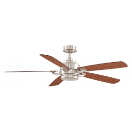 The Benito Chrome ceiling fan with light by Fanimation