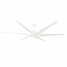 DC ceiling fan Cies 210 white with remote control by Faro