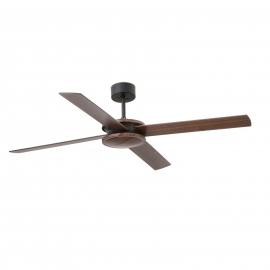 DC ceiling fan Polea 132 brown with remote control by Faro