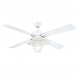 Outdoor ceiling fan Great Falls white with light by Westinghouse