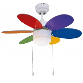 Rainbow Multi Colours ceiling fan with light by Sulion