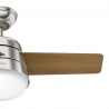 Finley Nickel 91 with light and remote control by Hunter