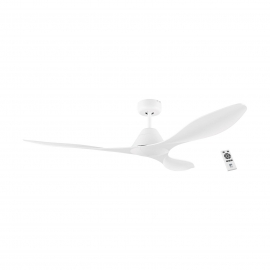 Antibes 132 White with DC motor and remote control by Eglo