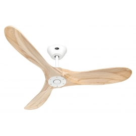 ECO GENUINO 122 White Matt Natural with DC motor and remote control by Casafan