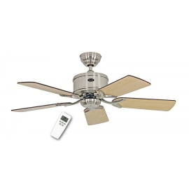 ECO Elements 103 Brushed Chrome with DC motor and remote control by Casafan