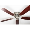 Kisa Deluxe Brushed Nickel Rose / Walnut suitable for low ceilings by Pepeo