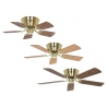 Classic Flat III Polished Brass in 75, 103 and 132 cm by Casafan