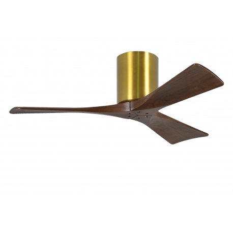 Atlas IRENE 132 Brass Walnut with DC motor by Matthews Fans