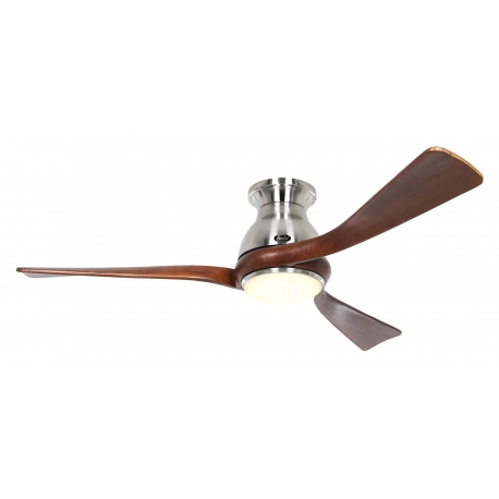 Eco Regento BN 140 Chrome / Walnut with DC motor and LED light by Casafan