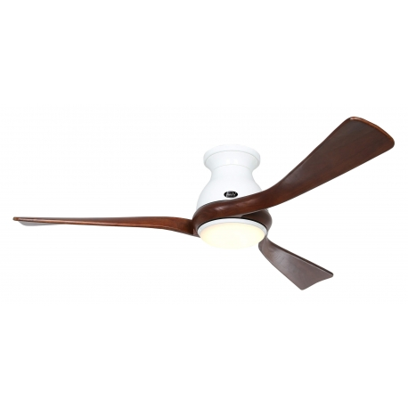 Eco Regento WE 140 White / Walnut with DC motor and LED light by Casafan