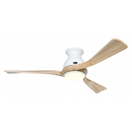 Eco Regento WE 140 White / Natural Wood with DC motor and LED light by Casafan