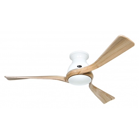 Eco Regento WE 140 White / Natural Wood with DC motor by Casafan
