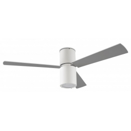 Formentera white ceiling fan with light & remote control by La Creu