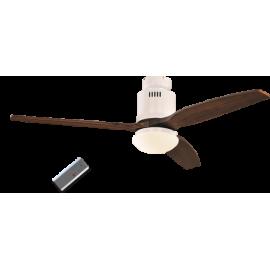 Aerodynamix White/Walnut DC ceiling fan with light & remote control by Casafan