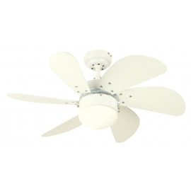Turbo White ceiling fan with light by Westinghouse