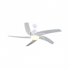 Viper 112  white ceiling fan with light & remote control by Fantasia