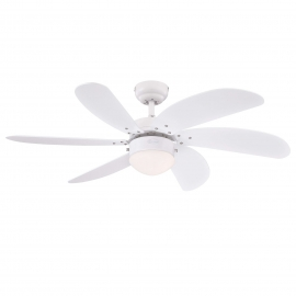 Turbo Swirl 105 White ceiling fan with light by Westinghouse