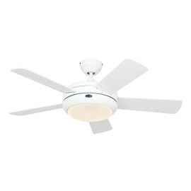 Titanium 105 white with light and remote control by Casafan