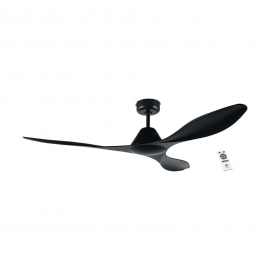 Antibes 132 Black with DC motor and remote control by Eglo