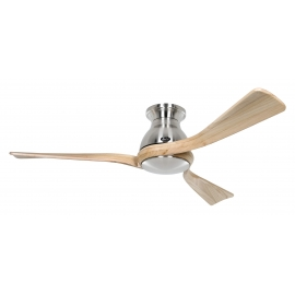Eco Regento BN 140 Chrome / Natural Wood with DC motor by Casafan